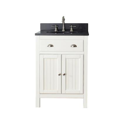 Avanity HAMILTON-VS Hamilton Top Sink Vanity with Sink, Soft Closed Doors, Adjustable Shelf, Adjustable Height Levelers and Wood Construction in French White