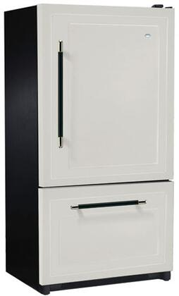 Heartland 316501LHD  Counter Depth Bottom Freezer Refrigerator with 20.2 cu. ft. Capacity in Almond