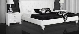 VIG Furniture VGUN227180WHTCK A & X Monica Series  Cal King Size Platform Bed