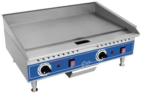 Globe GEG Electric Countertop Medium Duty Griddle with Thermostat, Catch Tray and Highly-Polished Griddle Plate in Stainless Steel