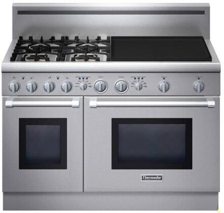 Thermador PRD484EEHU PRO Harmony Series Dual Fuel Freestanding Range with Sealed Burner Cooktop, 4.4 cu. ft. Primary Oven Capacity, in Stainless Steel