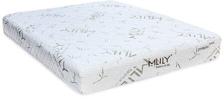 """MLily Premier Hybrid Collection PREMIERHYBRID9 9"""" Mattress with 0.9"""" GelCore Gel Infused Memory Foam, Pocketed Innerspring System, Flow Ventilated Foam and Removable Cover in White Color"""