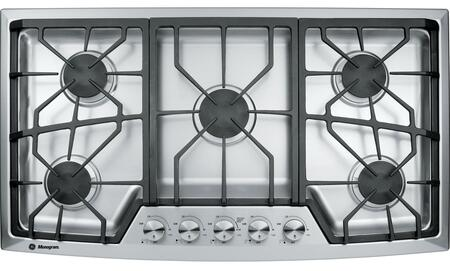 GE Monogram ZGU38xNSMSS Gas Cooktop with Electronic Ignition, High Output or Precise Simmering and Hand-Machined Knob Controls, in Stainless Steel