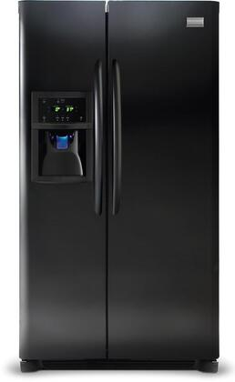Frigidaire DGHS2634KB Gallery Series Side by Side Refrigerator with 26 cu. ft. Capacity in Black Textured