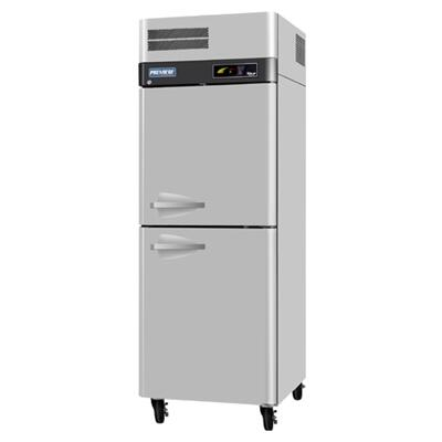 Turbo Air PRR Refrigerator with Solid Half Doors, Digital Temperature Control System, Hot Gas Condensate System, High-Density Polyurethane Insulation and Stainless Steel Cabinet Construction