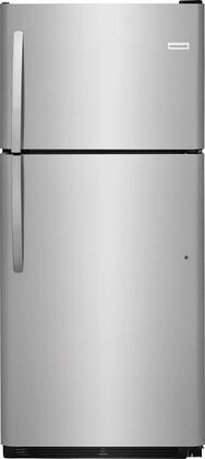 "Frigidaire FFTR2032Tx 30"" Top Freezer Refrigerator with 20.4 cu. ft. Total Capacity, 2 Full Width Glass SpillSafe Refrigerator Shelves, 1 Full Width Wire Freezer Shelf, and Reversible Door, in"