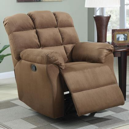 Coaster 601016 Recliners Series Casual Microfiber Wood Frame Rocking Recliners