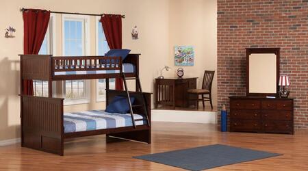 Atlantic Furniture AB5920 Nantucket Bunk Bed Twin Over Full