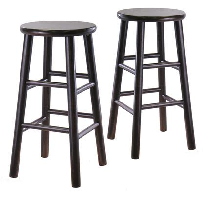 Winsome 9278X Bevel Seat Stool in Espresso Finish (Set of 2)
