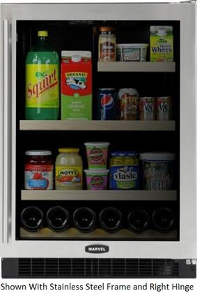 """Marvel 6GARMB 24"""" Beverage Center With Dynamic Cooling Technology, Dual-Pane Tinted, Full Length Designer Handle, Close Door Assist Hinging System &"""