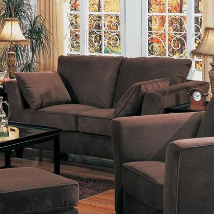 Coaster 50023XY Park Place Contemporary Love Seat with Flair Tapered Arms and Accent Pillows
