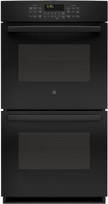 "GE Profile PK7500 27"" SC Convection Double Oven, with Hidden Bake Interior, Designer Style Handle, and Self Clean with Steam Clean Option"