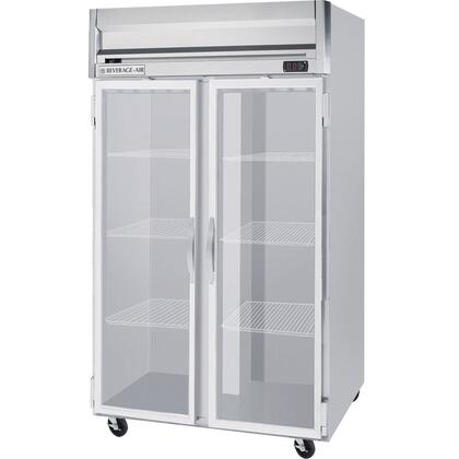 Beverage Air HRS2-1 Two Section [Solid Door] Reach-In Refrigerator, Stainless Steel Exterior and Interior Finish