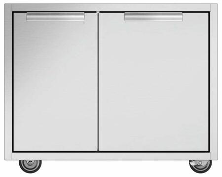 DCS CAD1 CAD Grill Cart in Brushed Stainless Steel