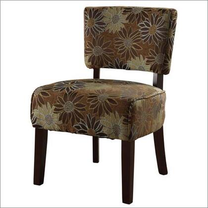 Linon 98152KBG01KDU  Fabric Wood Frame Accent Chair