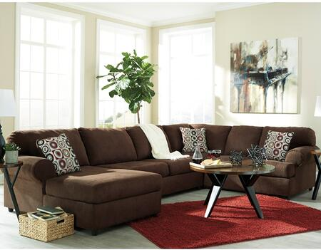 Flash Furniture Signature Design by Ashley Jayceon 3 PC Sectional with Right Arm Facing Sofa, Left Arm Facing Chaise, Toss Pillows, Loose Seat Cushions and Fabric Upholstery in