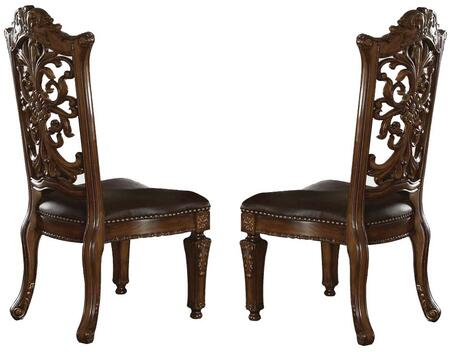 Acme Furniture 60003 Vendome Series Traditional Bycast Leather Wood Frame Dining Room Chair