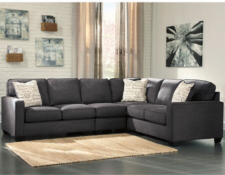 Flash Furniture FSD1669SEC3RAFSCHGG Alenya Series Stationary Microfiber Sofa