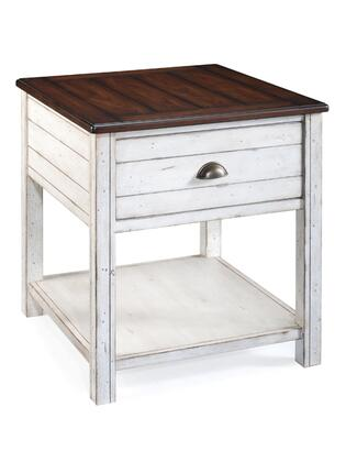 Magnussen T155603 Bellhaven Series  Rectangular 1 Drawers End Table