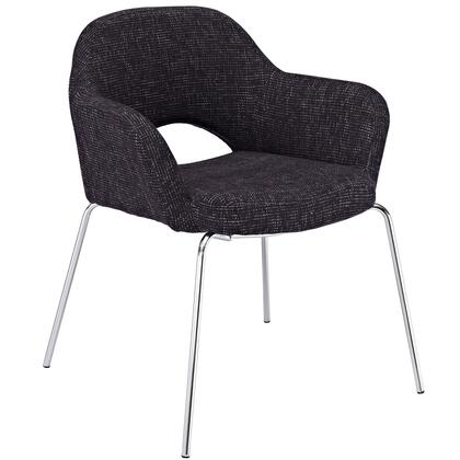 """Modway EEI-623 Cordelia 19"""" Dining Chair with Dual-Tone Upholstered Tweed Cushion, and Chrome Legs with Non-Marking Feet"""