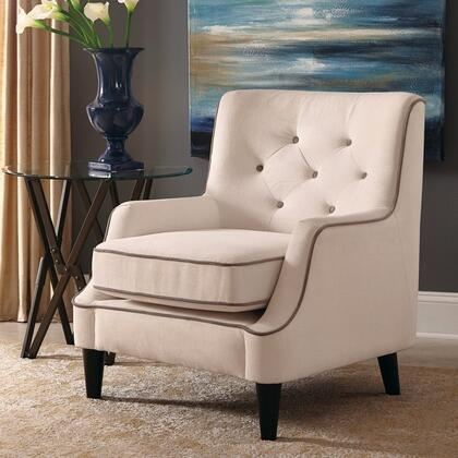 Donny Osmond Home 902895 Accent Seating Series Armchair Fabric Wood Frame Accent Chair