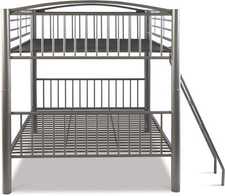 Powell 941 Heavy Metal Bunk Bed in Pewter Finish