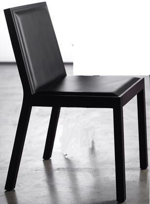 Modloft CDS04200T5C5 Queen Series Modern Leather Wood Frame Dining Room Chair