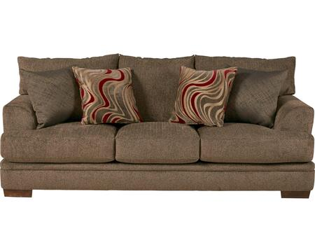 "Jackson Furniture Crompton Collection 4462-03- 92"" Sofa with Padded Chenille Fabric Upholstery, Pyramid-Shaped Wooden Legs and Shark Fin Arm Design in"