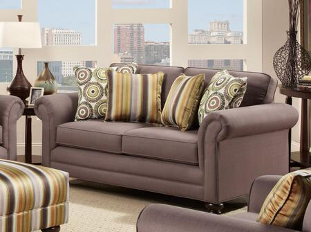 Chelsea Home Furniture 632239022 Trieste Series Polyester Stationary with Wood Frame Loveseat