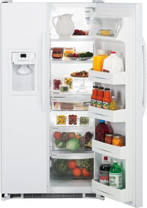 GE GSH25JFXWW  Side by Side Refrigerator with 25 cu. ft. Capacity in White