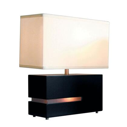 Picture of 0284DC Zen  Reclining Table Lamp in Dark Brown and Frosted