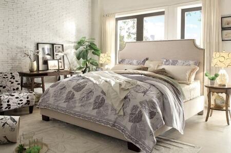 Diamond Sofa KINGSTONSDQUBED Kingston Series  Queen Size Panel Bed