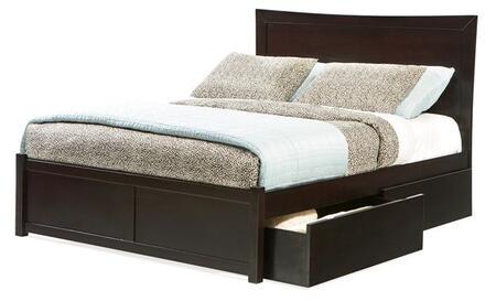 Atlantic Furniture MIAMIFPFQUEENES Miami Series  Queen Size Bed
