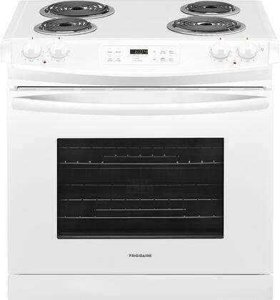 "Frigidaire FFED3016Tx 30"" ADA Compliant Drop In Electric Range with 4.6 cu. ft. Capacity, 4 Coil Elements, Self-Clean Function, 2 Racks, and Auto Oven Shut-Off, in"