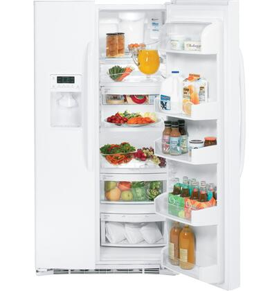 GE GSHF6NGBWW  Side by Side Refrigerator with 25.9 cu. ft. Capacity in White