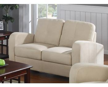 Klaussner DUNDEELS Dundee Series Microfiber Stationary with Wood Frame Loveseat