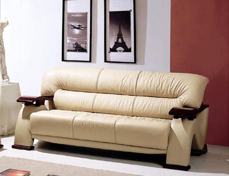 Global Furniture USA 2033LVCAPS  Leather Match Sofa