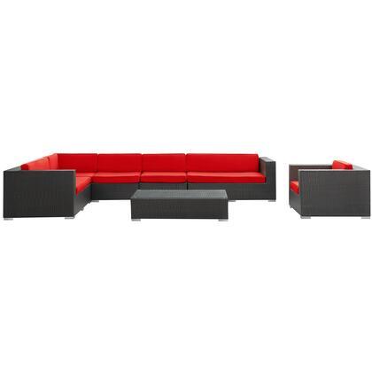 Modway EEI654EXPRED Modern Rectangular Shape Patio Sets