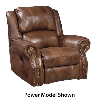 Signature Design by Ashley Walworth U7800REC Rocker Recliner with Nail-Head Accents, Beautifully Rolled Arms and Thick Supportive Back Cushion in