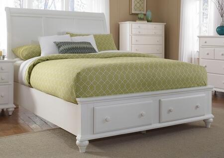 Broyhill HAYDENBED Hayden Place Storage Sleigh Bed: White