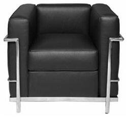 Fine Mod Imports FMI1156 Cube LC2 Petit Leather Chair: