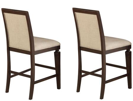Acme Furniture 72487 Agatha Series Residential Fabric Upholstered Bar Stool