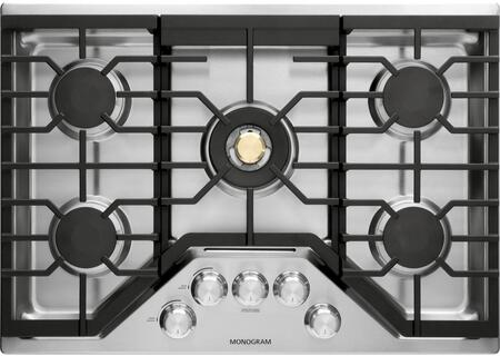 GE Monogram ZGUxRSLSS Gas Cooktop with 5 Burners, in Stainless Steel