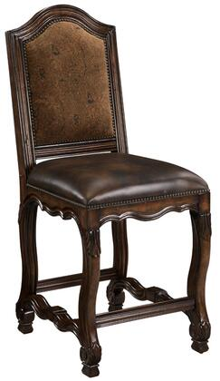 Ambella 10124520001 Avignon Series Leather with Wood Frame in Medium Wood