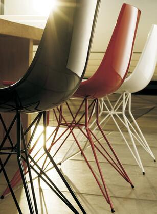 Modloft CDJ167PVL7 Audley Series Modern Not Upholstered Metal Frame Dining Room Chair