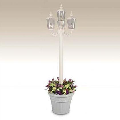 """Patio Living Concepts Cambridge 0043 85"""" Tall Four Lantern Planter Lamp With Powder Coated Aluminum Construction, Resin Bases, Unbreakable Polycarbonate Lantern Globes, Two Level Dimming Switch, In"""