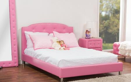 Wholesale Interiors BBT6440BMNSFULLPINK Baxton Studio Canter