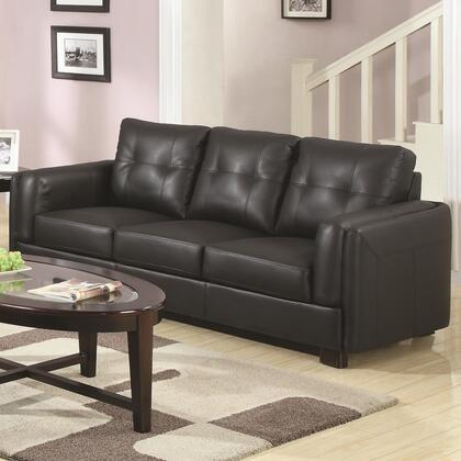 Coaster 504451 Sawyer Series Stationary Bonded Leather Sofa