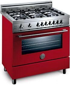 Bertazzoni X366PIRROLP Professional Series Dual Fuel Freestanding Range with 6 Sealed Burner Cooktop 4 cu. ft. Primary Oven Capacity |Appliances Connection