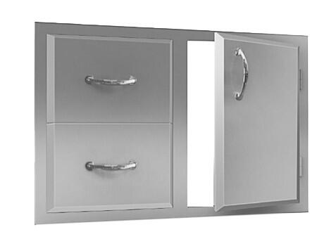 ADC1 Double Drawer and Door Combo